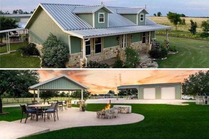Magnificent Farmhouse Style Barndo on Texas Plains